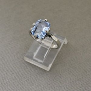 Jewelry - Light Blue Topaz 950 Sterling Ring